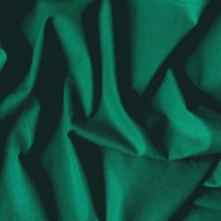 Uni, egyszínű pamutvászon, zöld