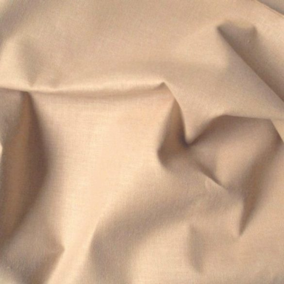 Világosdrapp 240 cm széles, uni, egyszínű pamutvászon, lepedővászon