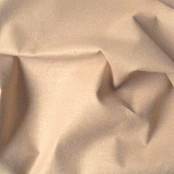 Világosdrapp 240 cm széles, uni, egyszínű pamutvászon, lepedővászon - maradék darab