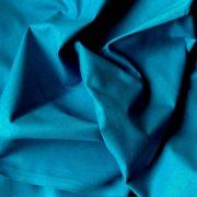 Uni, egyszínű pamutvászon, sötét türkizkék