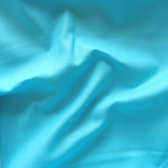Uni, egyszínű pamutvászon, világos türkizkék