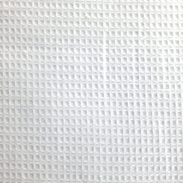 Fehér darázs, waffle pamutszövet, aprókockás, 215 g/m²