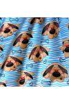 OTTÓ, szemüveges kutyus, extra széles,  gyerekmintás pamutvászon