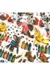 RONGYBABA, textiljátékok, extra széles,  gyerekmintás pamutvászon