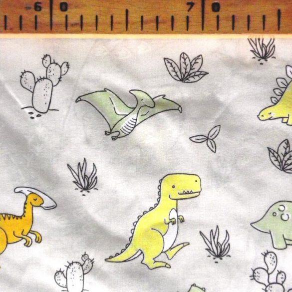 Jurassic, extra széles, dínó, gyerekmintás pamutvászon
