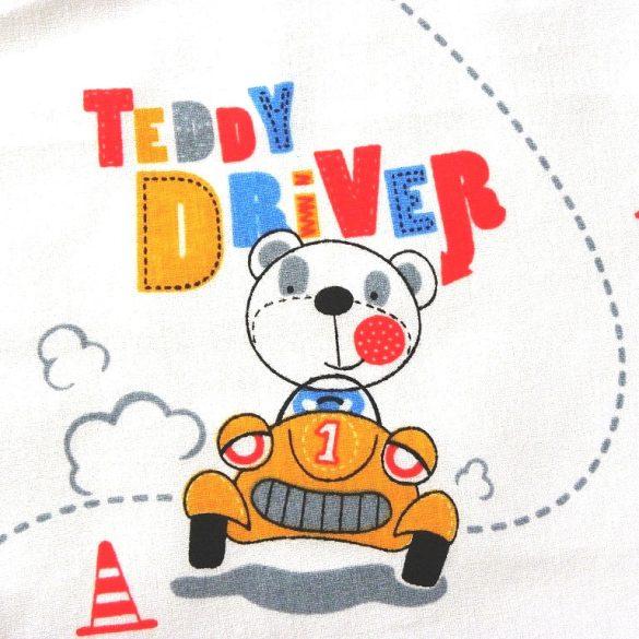 TEDDY DRIVER, autós maci mintás, extra széles pamutvászon