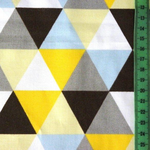 TRIA, geometrikus mintás, extra széles pamutvászon - sárga