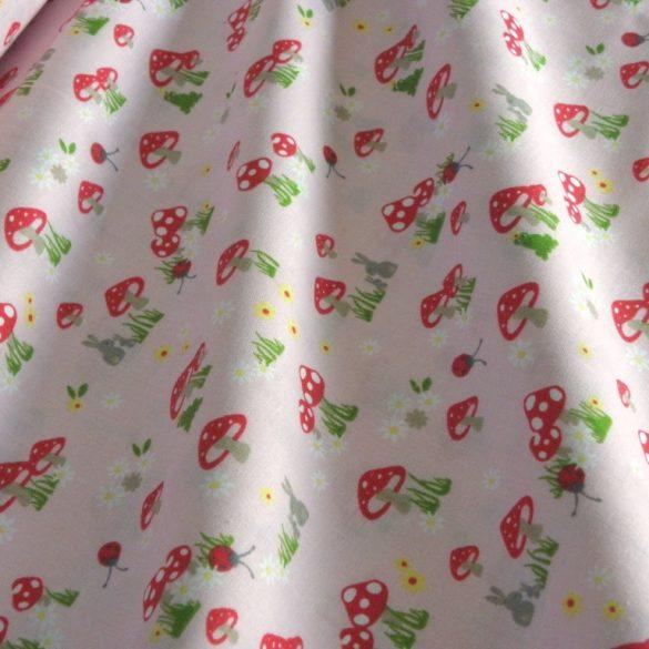 GOMBA, extra széles, gyerekmintás pamutvászon, rózsaszín