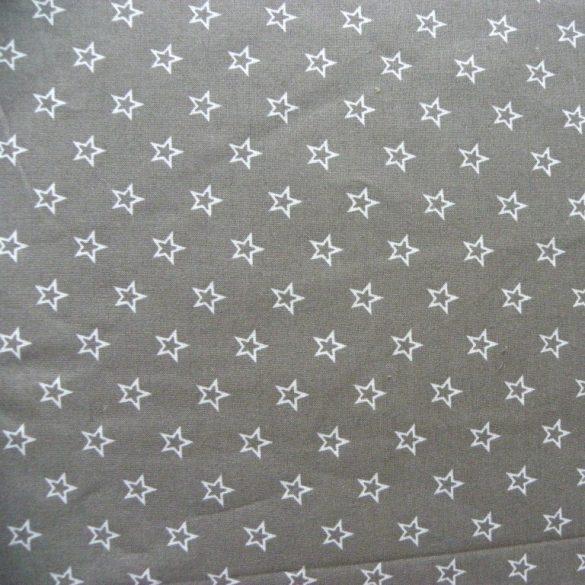 CSILLAGOCSKA, extra széles pamutvászon - szürke-fehér