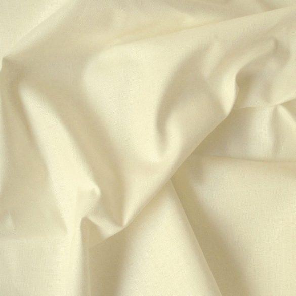 Krém 240 cm széles, uni, egyszínű pamutvászon, lepedővászon