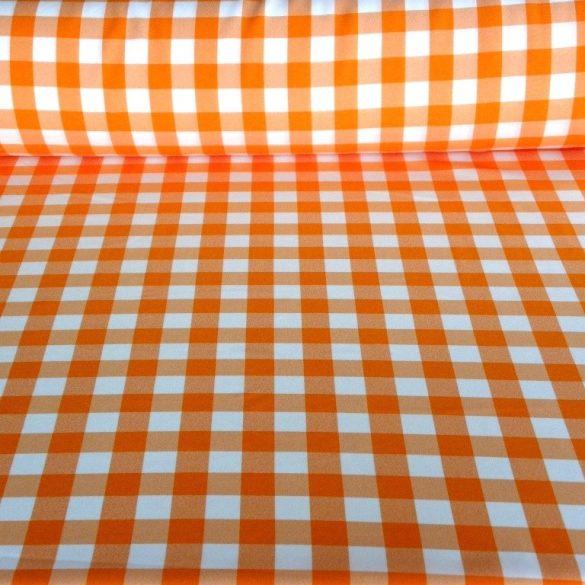 Kockás panama szövet, narancssárga