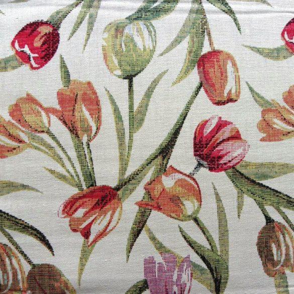 TULIPA, tulipán mintás lakástextil, dekorvászon