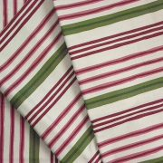 Lakástextil, natúr, zöld-bordó csíkos