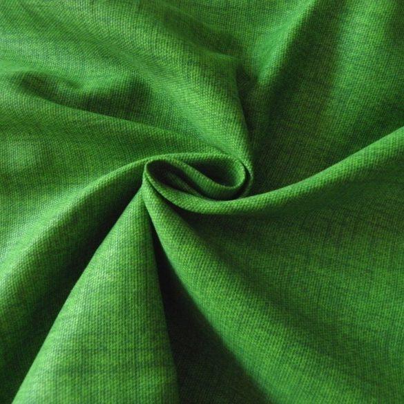 Lakástextil, dekorvászon, raszteres uni fűzöld