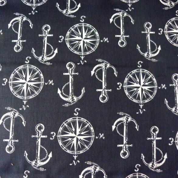 NAUTICO, kék, hajós mintás lakástextil, dekorvászon