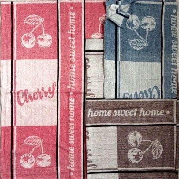 SWEET HOME, jacquard,  pamut konyharuha, 3 db-os csomag