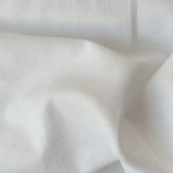 Fehér pamut flanel méteráru