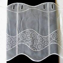 Hímzett ecrü vitrázs függöny, Lajta - 30 cm
