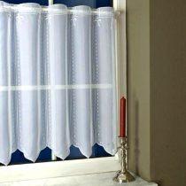 Karácsonyi mintás, hímzett vitrázs függöny, Ceremony, ezüst