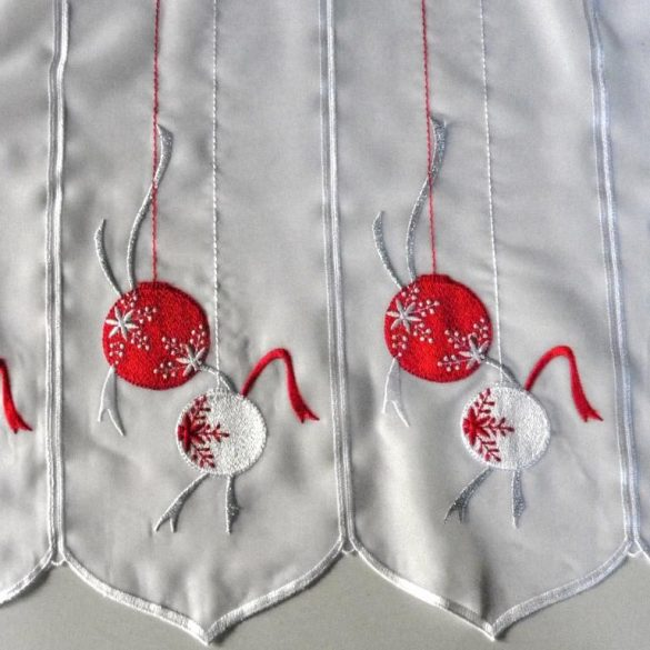 VIGILIA, karácsonyi mintás, hímzett vitrázs függöny