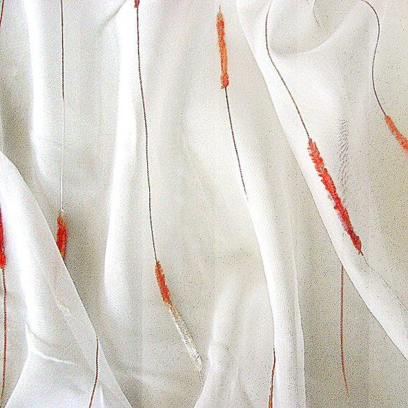 REGINA, nyírt, beszőtt voile függöny anyag, narancs