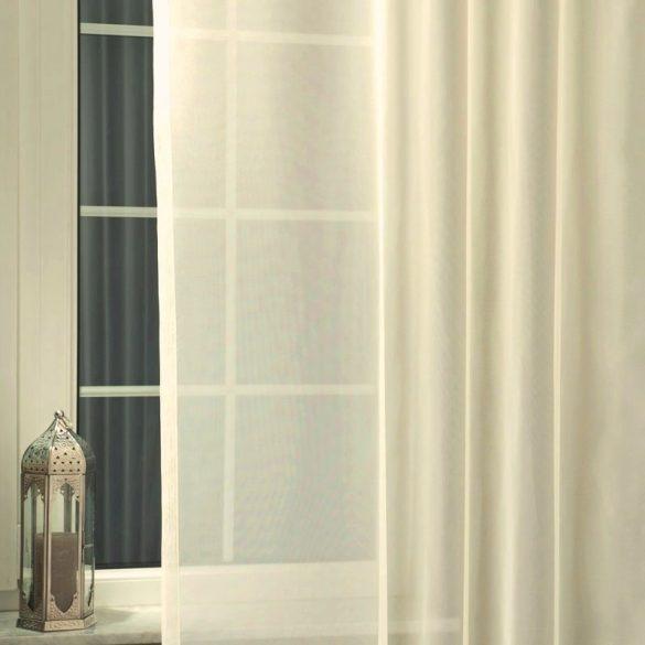 Ecrü voile, fényáteresztő függöny anyag, 180 cm magas, maradék darabok