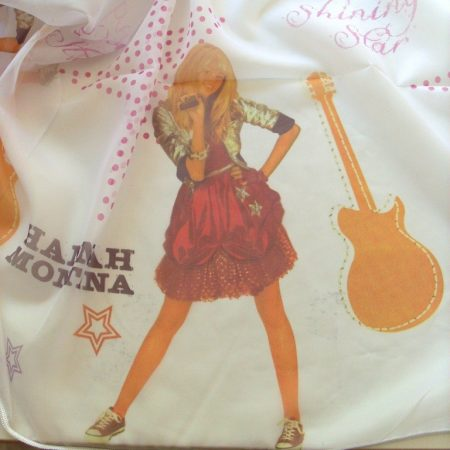 Hannah Montana mintás, voile, fényáteresztő függöny anyag