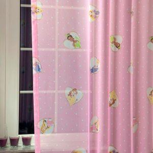 CINDERELLA, hercegnők mintás rózsaszín fényáteresztő voile