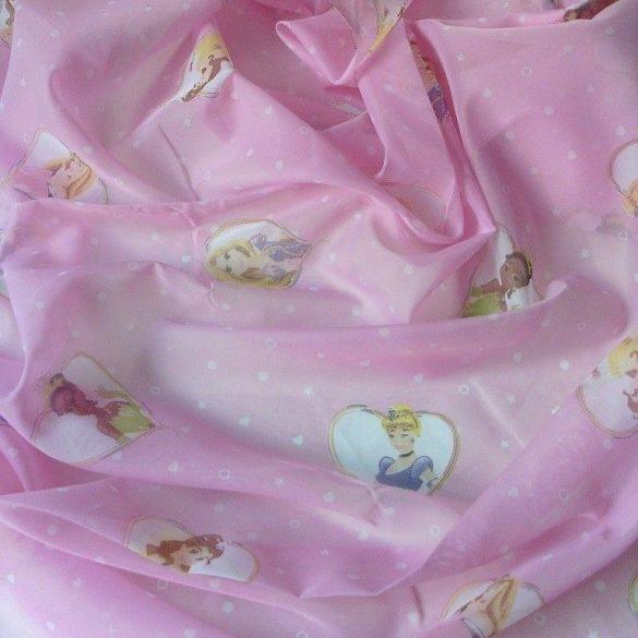 CINDERELLA, Disney hercegnők voile függöny anyag, maradék darab: 1,35 m