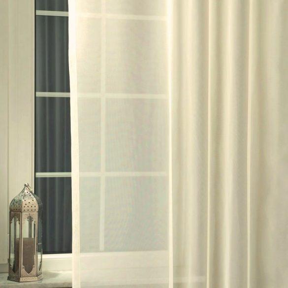 Ecrü voile, fényáteresztő függöny anyag, 220 cm magas