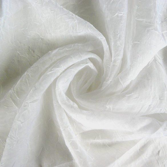 Gyűrt voile függöny anyag méteráru, fehér