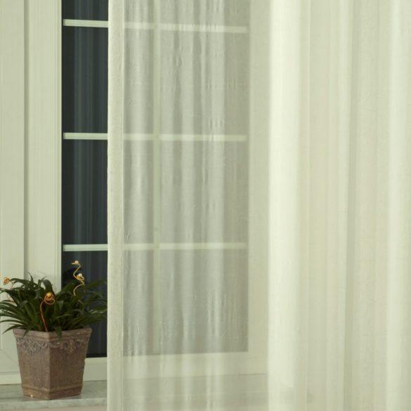 Gyűrt voile függöny anyag méteráru, ekrü