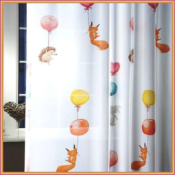LUFI, gyerekmintás nyomott voile, fényáteresztő függöny anyag - 300 cm magas