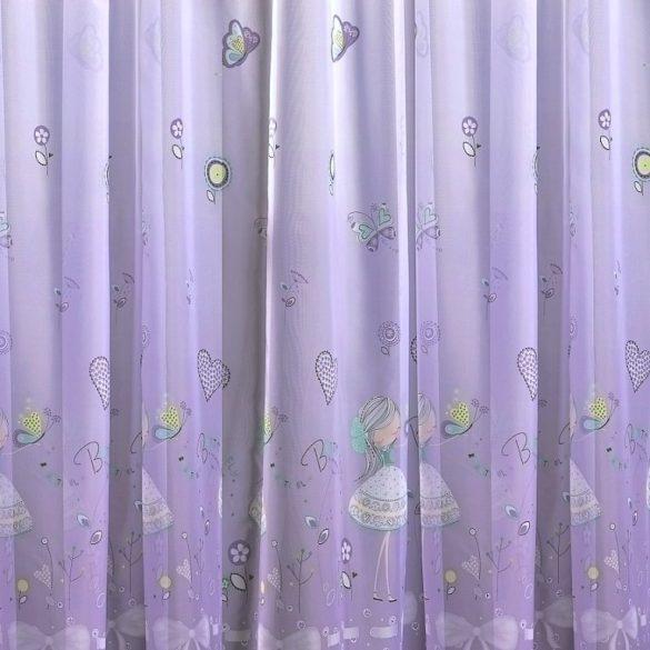 LIZA, tündéres nyomott voile, fényáteresztő függöny anyag - 300 cm magas