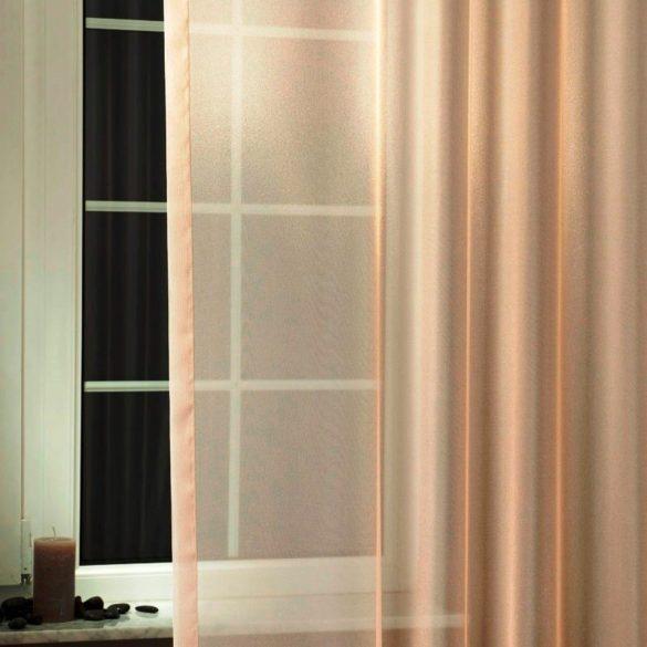 LILIANA, félorganza fényáteresztő függöny anyag - caffee latte, 180 cm és 300 cm magas
