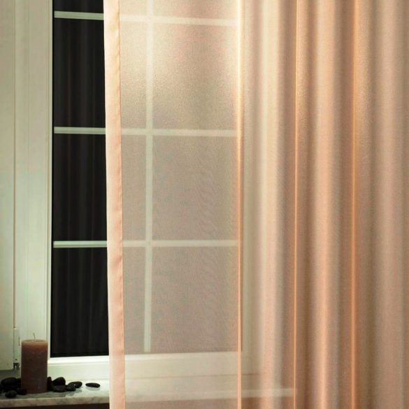 LILIANA, félorganza fényáteresztő függöny anyag - caffee latte, 180 cm magas