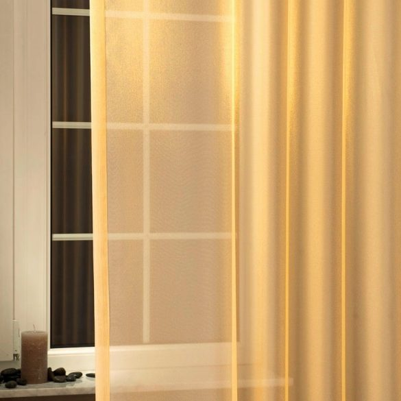 LILIANA, félorganza fényáteresztő függöny anyag - narancs, 180 cm és 300 cm magas