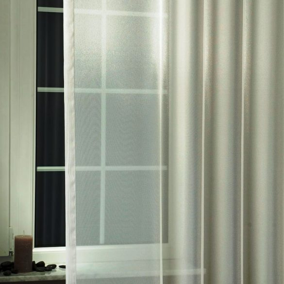 LILIANA, félorganza fényáteresztő függöny anyag - ezüst, 180 cm magas