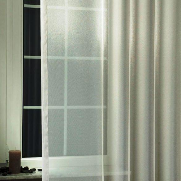 LILIANA, félorganza fényáteresztő függöny anyag - ezüst