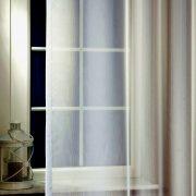 LILIANA, félorganza fényáteresztő függöny anyag - grafit, 180 cm magas