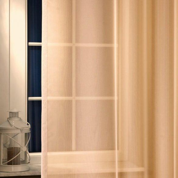LILIANA, félorganza fényáteresztő függöny anyag - nugát, 180 cm és 300 cm magas