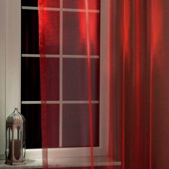 GYÖNGY, organza függöny anyag, burgundy bordó