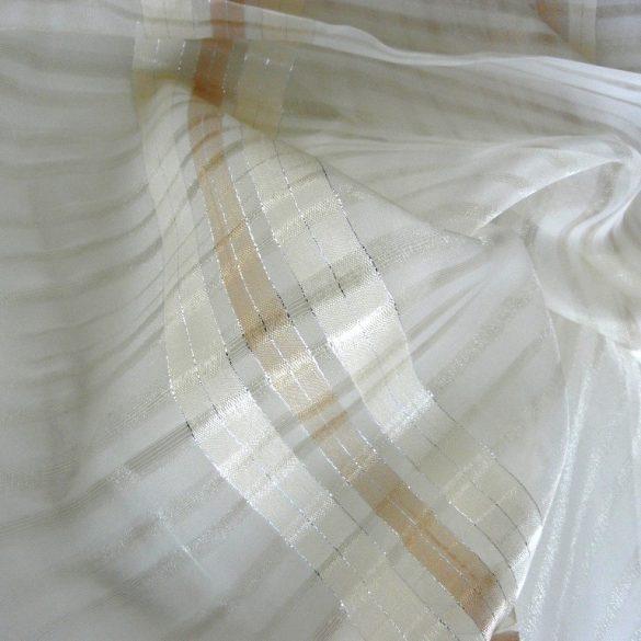 DEBORA, krém csíkos organza függöny anyag
