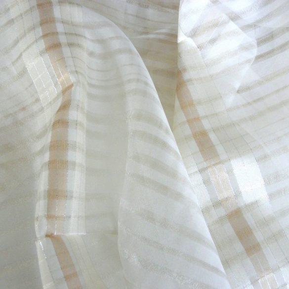 DEBORA, krém csíkos organza függöny anyag, 180 cm magas