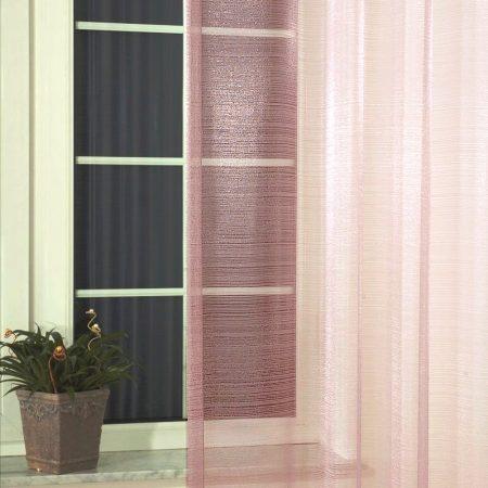 Organza függöny anyag - Ametiszt, rózsaszín