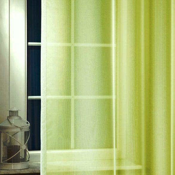 LILIANA, félorganza fényáteresztő függöny anyag - oliva, 300 cm magas