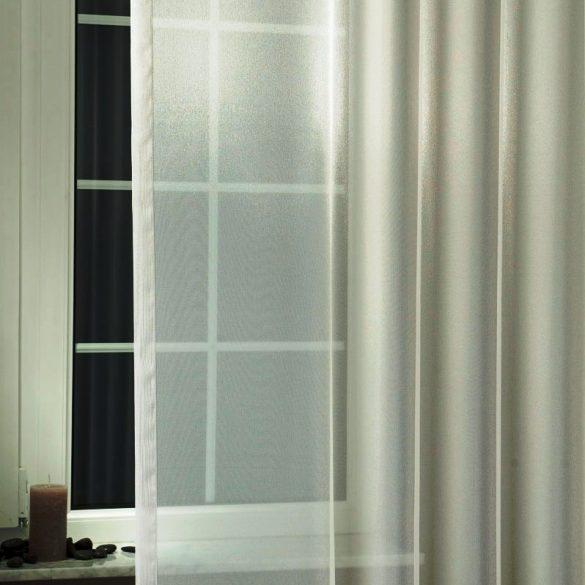 LILIANA, félorganza fényáteresztő függöny anyag - ezüst, 300 cm magas