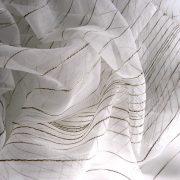 VERTICA-METROPOLITAN, beszőtt csíkos organza függönyanyag, 300 cm magas