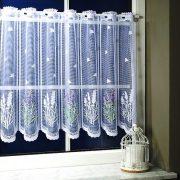 Levendulamező, levendulás, jacquard csipke vitrázsfüggöny anyag