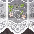 Vitrázs függöny, fehér, jacquard csipke, libás mintával 60